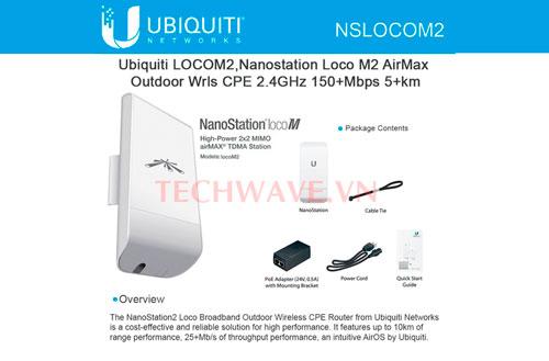 bộ phát sóng Wifi UBIQUITI AirMax NanoStation Loco M2