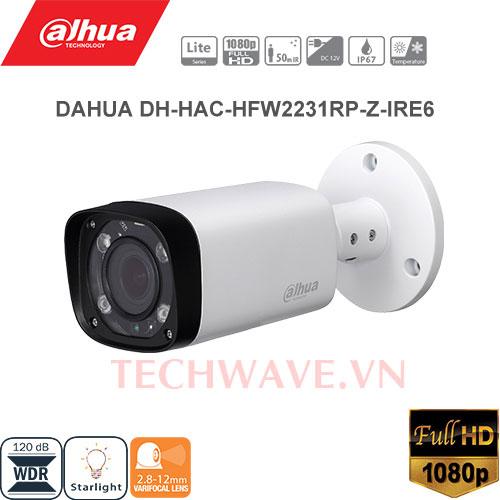 Camera HDCVI 2MP Dahua HAC-HFW2231RP-Z-IRE6