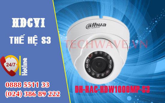 Camera quan sát HDCVI DAHUA HAC-HDW1000MP-S3