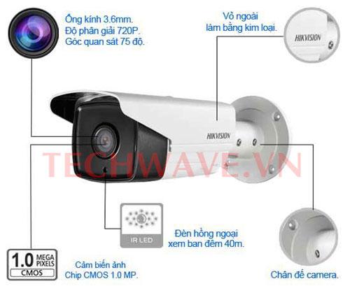 Camera HIKVISION DS-2CE16C0T-IT3