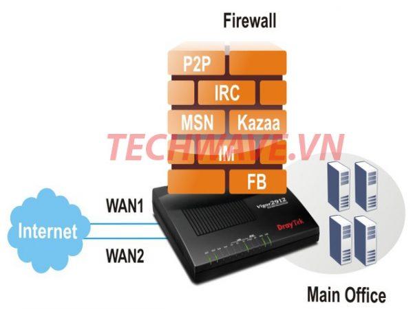 Draytek 2912f firewall